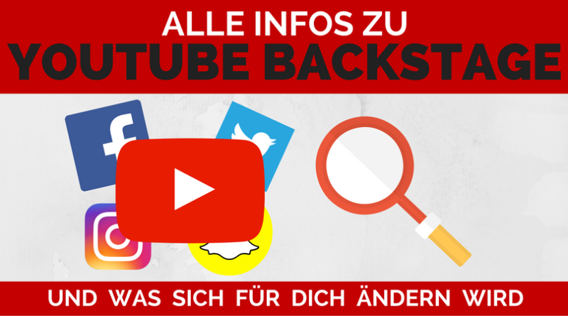 Youtube Update - Youtube Backstage