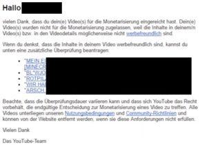Youtube Richtlinie Entmonetarisierung