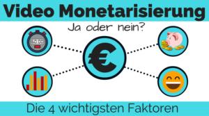 Youtube Videos Monetarisieren